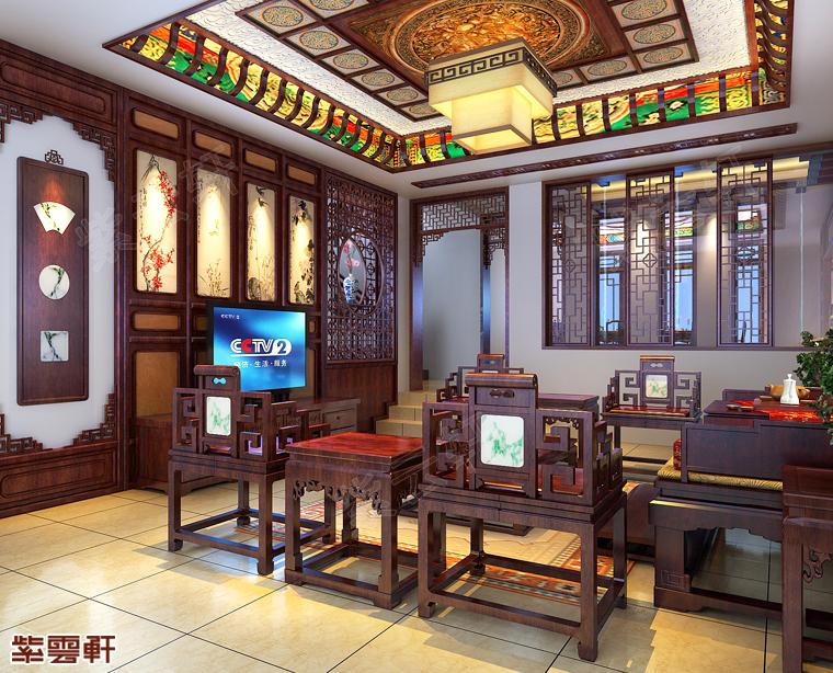 南京市古典别墅中式装修 古风盎然