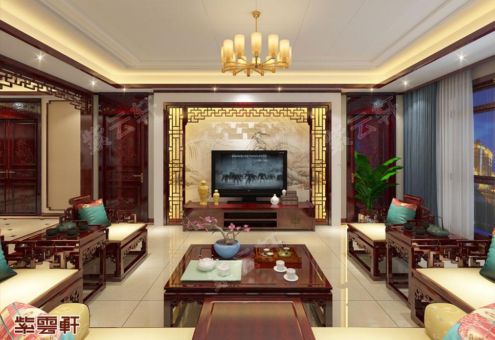 贵阳市平层装修 浓浓的中式风情 美翻了!