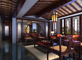 山东济南豪宅传统古典中式风格装修效果图,低调的奢华 文雅的壕!