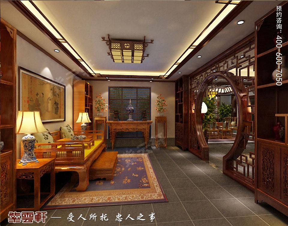 豪宅会客厅古典中式装修风格设计