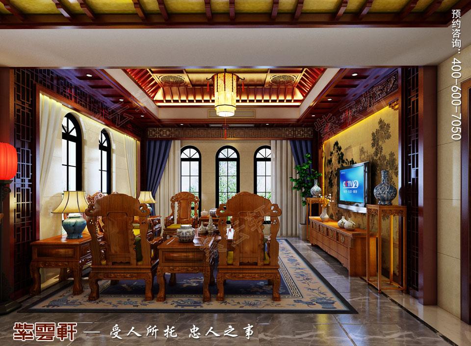 豪宅客厅古典中式装修风格设计