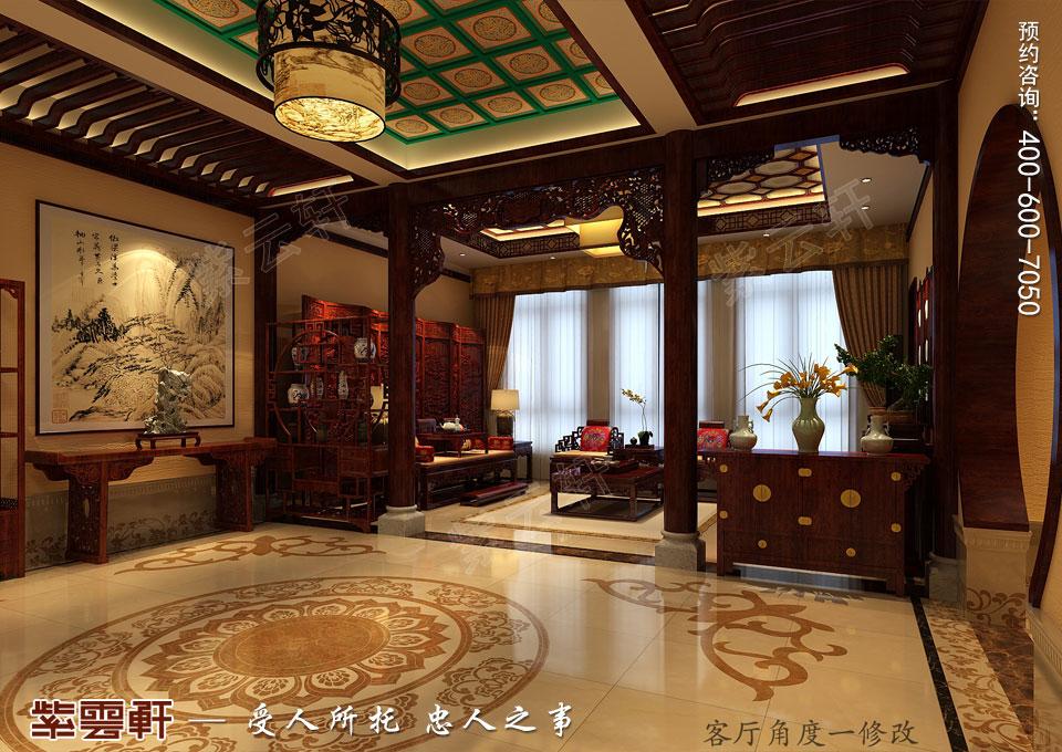 豪宅过厅中式装修