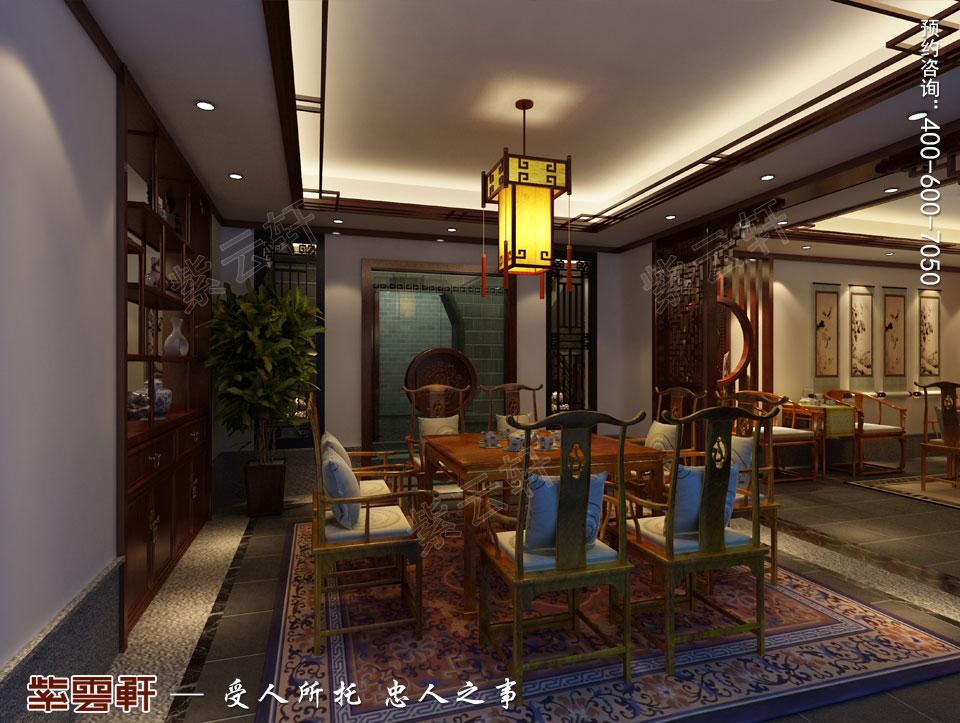 豪宅地下室茶牌区古典中式装修风格设计