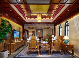 """江苏徐州豪宅古典中式装修风格设计 豪宅的三境界""""显,隐,藏"""""""