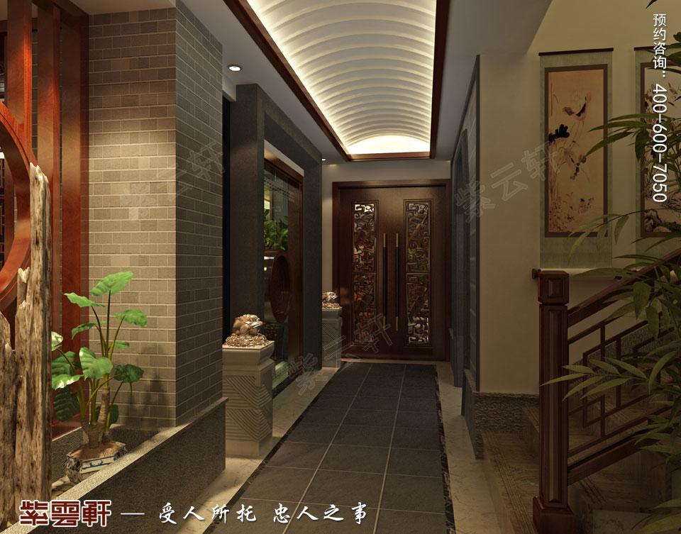 豪宅地下室走廊古典中式装修风格设计
