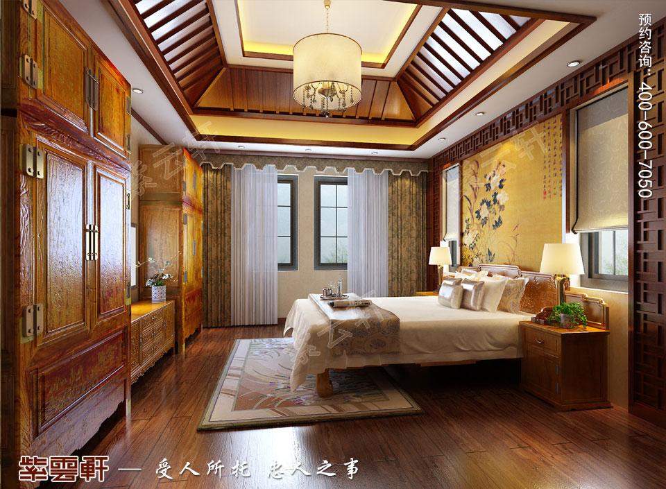 豪宅主卧古典中式装修风格设计