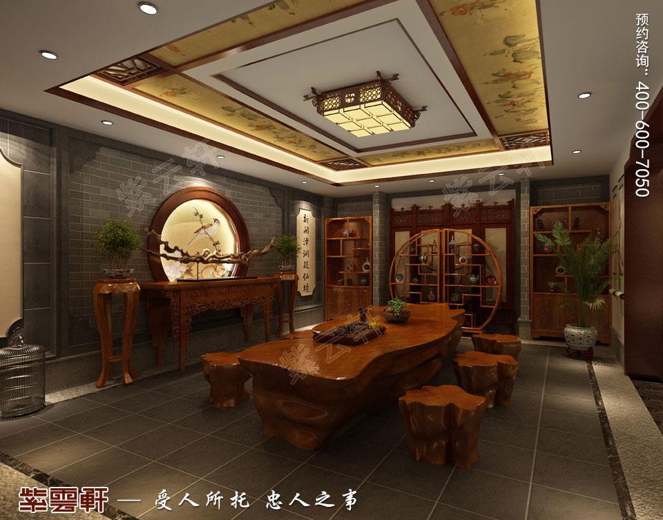 豪宅茶室古典中式装修风格设计