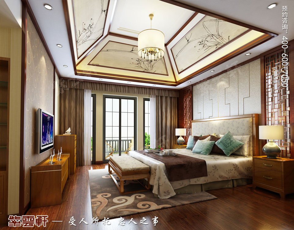 豪宅二层公主闺房古典中式装修风格设计