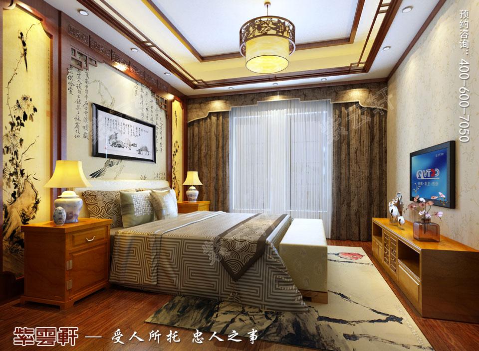 豪宅老人房古典中式装修风格设计