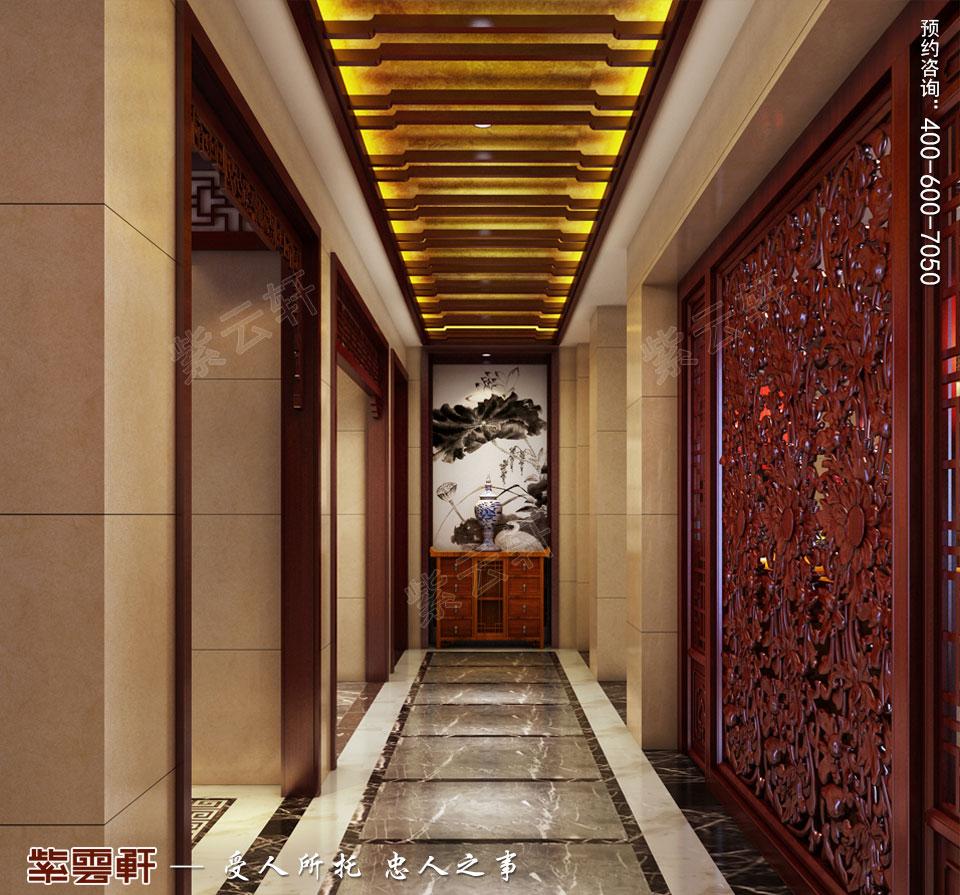 豪宅玄关古典中式装修风格设计