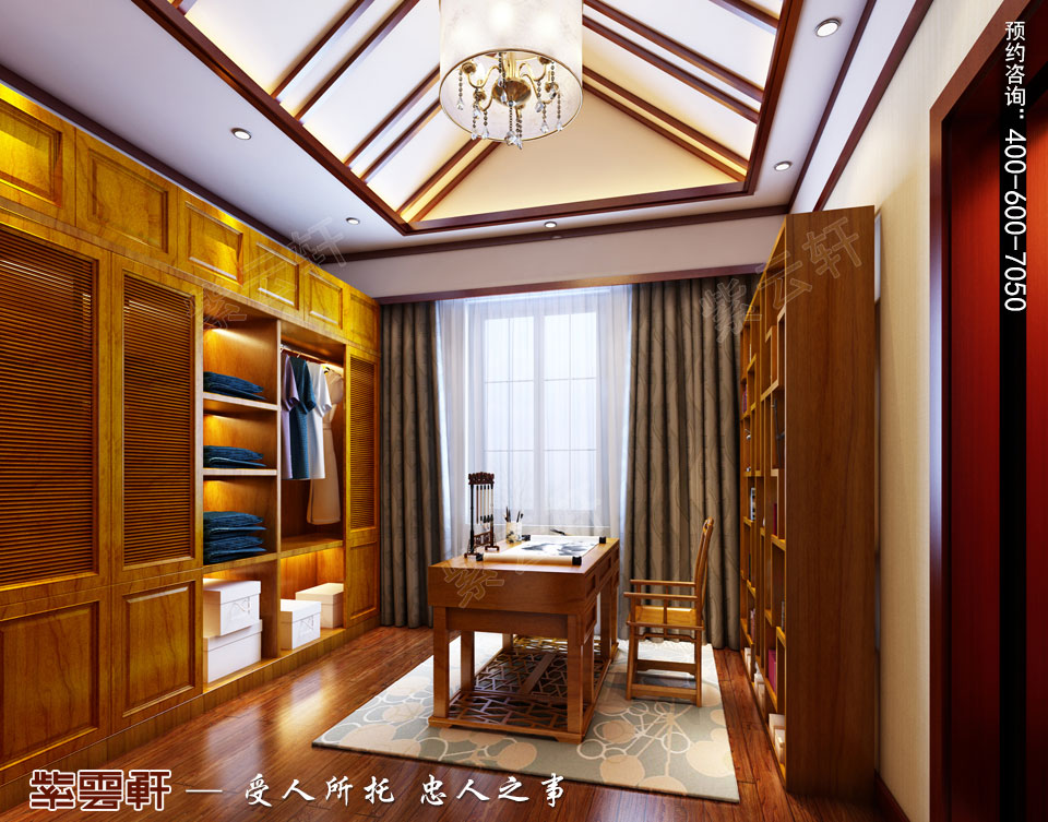 豪宅衣帽间古典中式装修风格设计