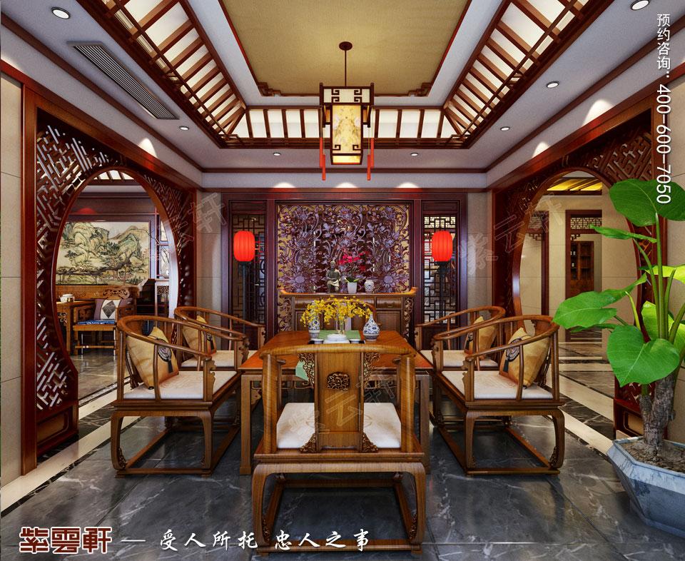 豪宅茶区古典中式装修风格设计