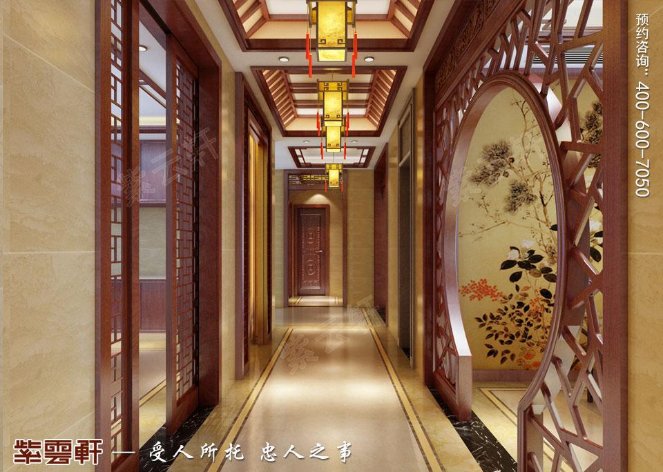 豪宅过道<a href=http://www.bjzyxuan.com/gudianzhongshi/ target=_blank class=infotextkey>古典中式风格</a>装修
