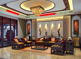 豪宅别墅:北京观塘豪宅现代中式装修效果图,含蓄凝练的中式情怀