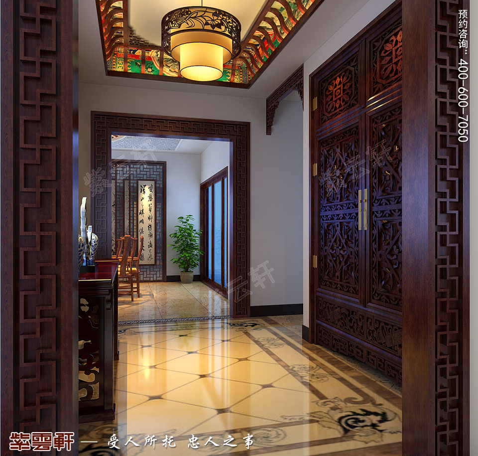 别墅门厅中式装修