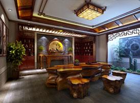 安徽合肥豪宅府邸古典中式装修风格 徽韵皖风的白墙黛瓦