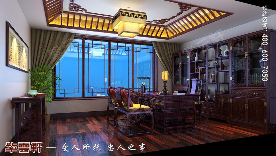别墅中式装修书房效果图