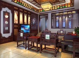 山东日照豪宅别墅中式装修案例鉴赏 尽享高雅的古典情怀