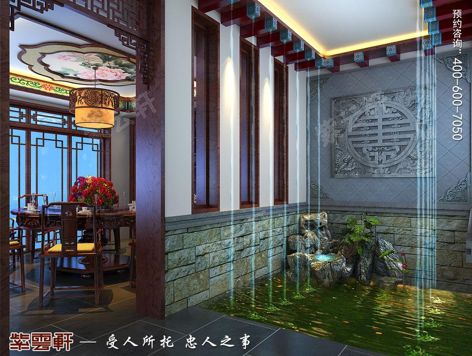 别墅中式装修过厅效果图