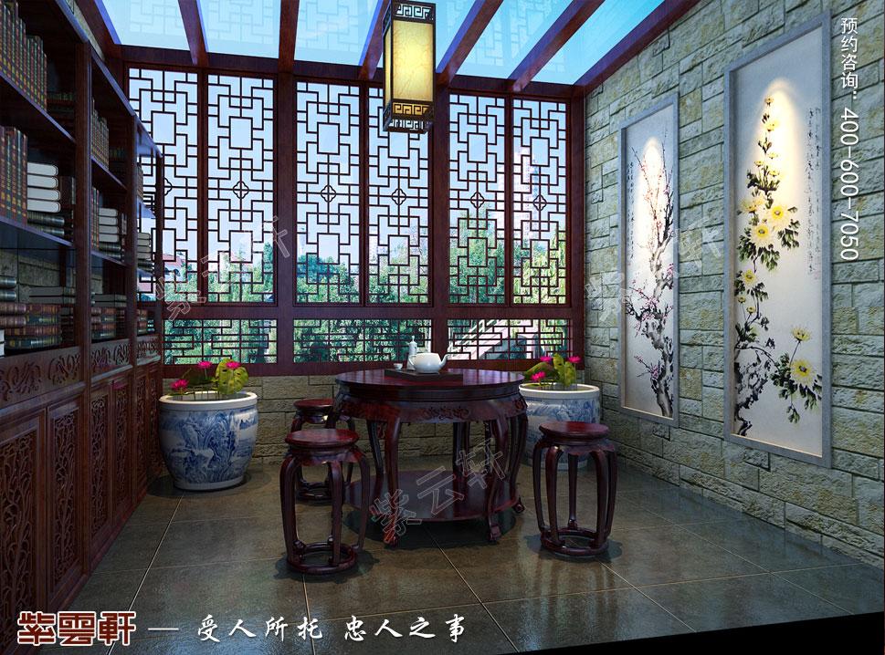 别墅中式装修阳台效果图
