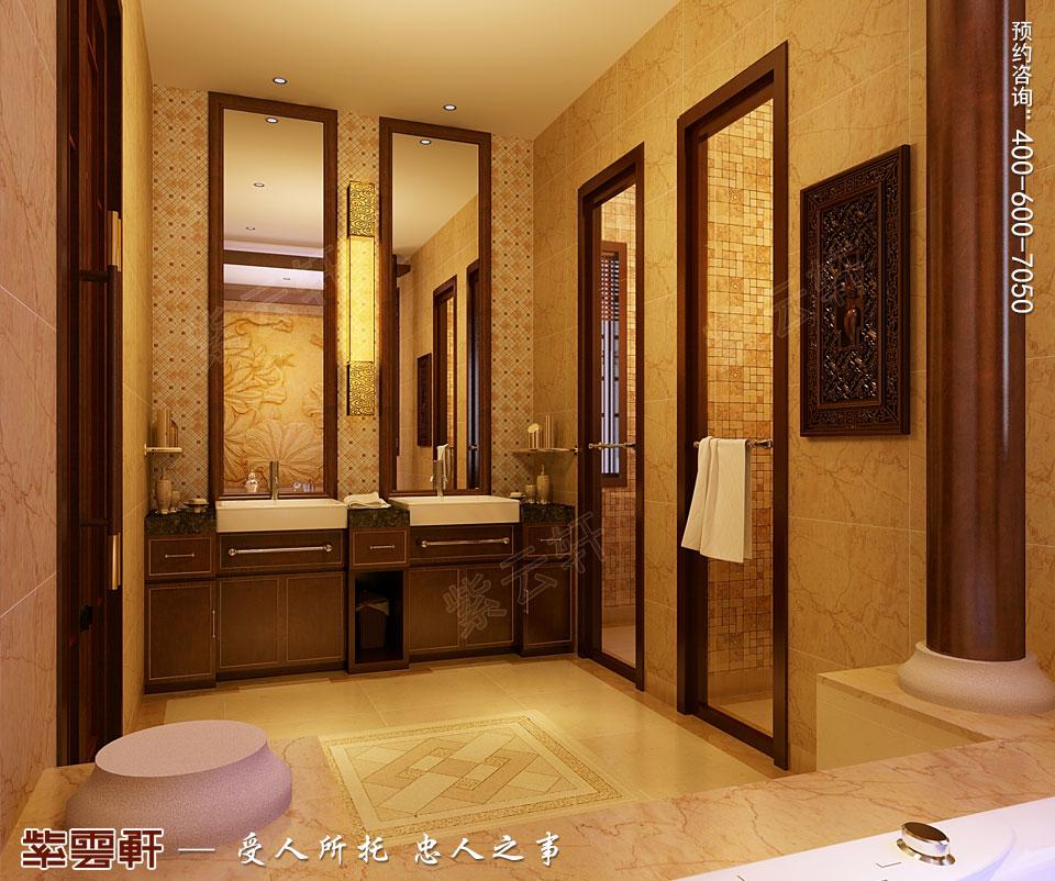 四合院主卫浴室简约古典中式装修