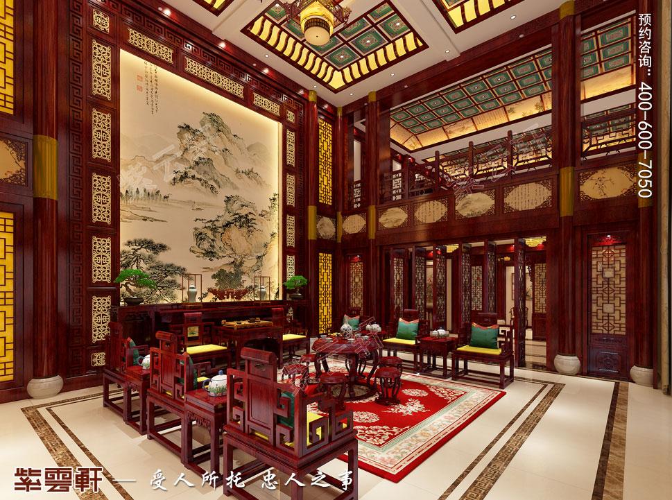 郑州豪宅中堂古典中式装修效果图