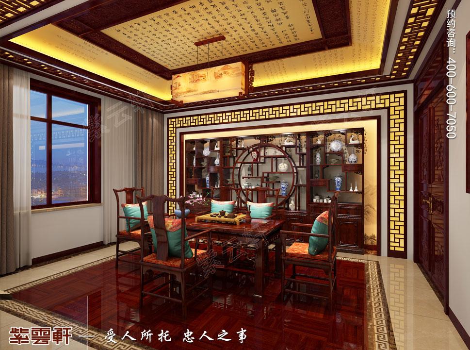郑州豪宅茶室古典中式装修效果图