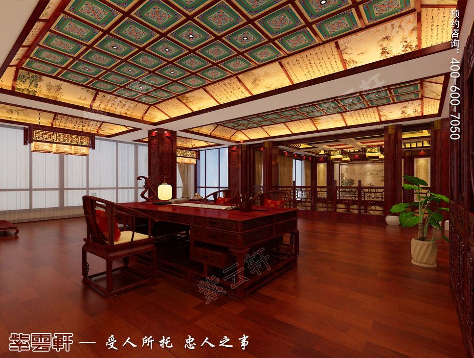 郑州豪宅书房古典中式装修效果图