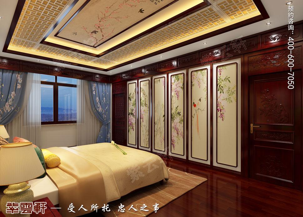 郑州豪宅二层主卧室古典中式装修效果图
