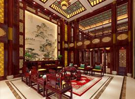 河南郑州豪宅古典中式装修效果图 烟柳画廊,风帘翠幕,人间仙境也