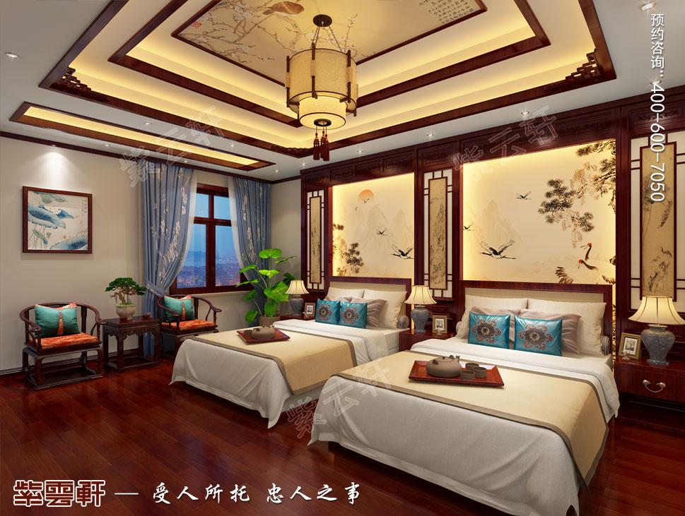 郑州豪宅老人房古典中式装修效果图