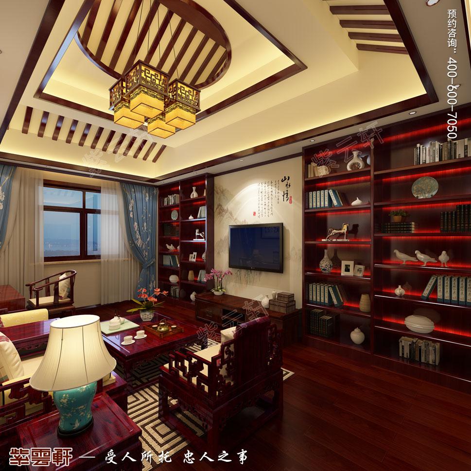 郑州豪宅男孩起居室古典中式装修效果图