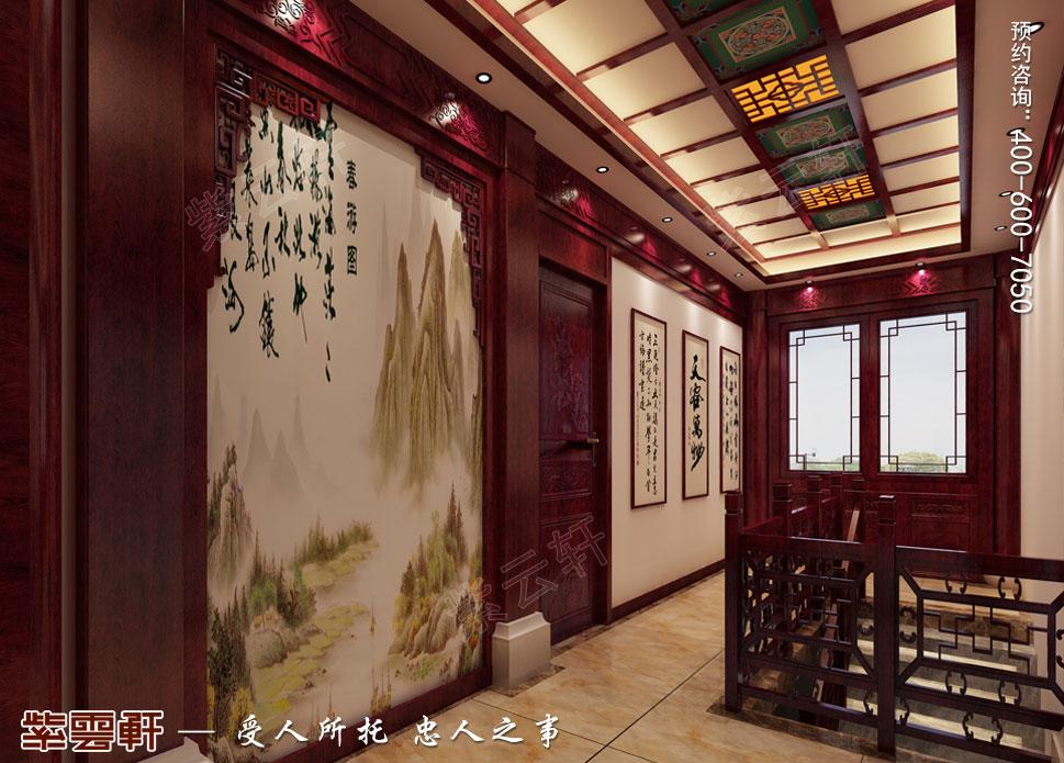 郑州豪宅过道古典中式装修效果图