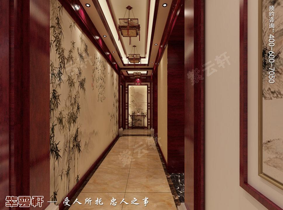 郑州豪宅过厅古典中式装修效果图