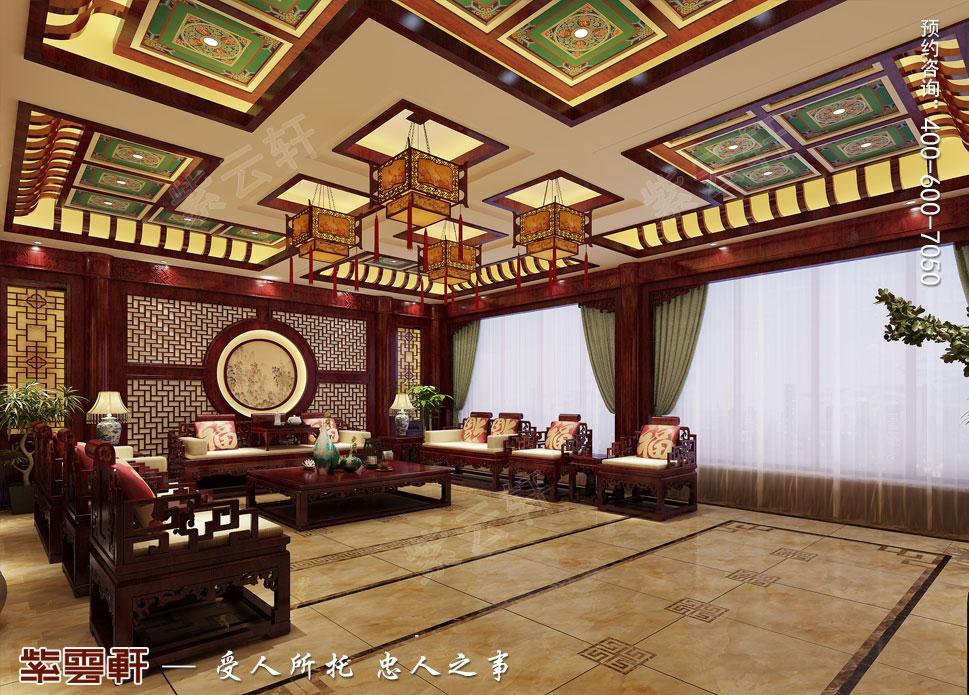 郑州豪宅客厅古典中式装修效果图