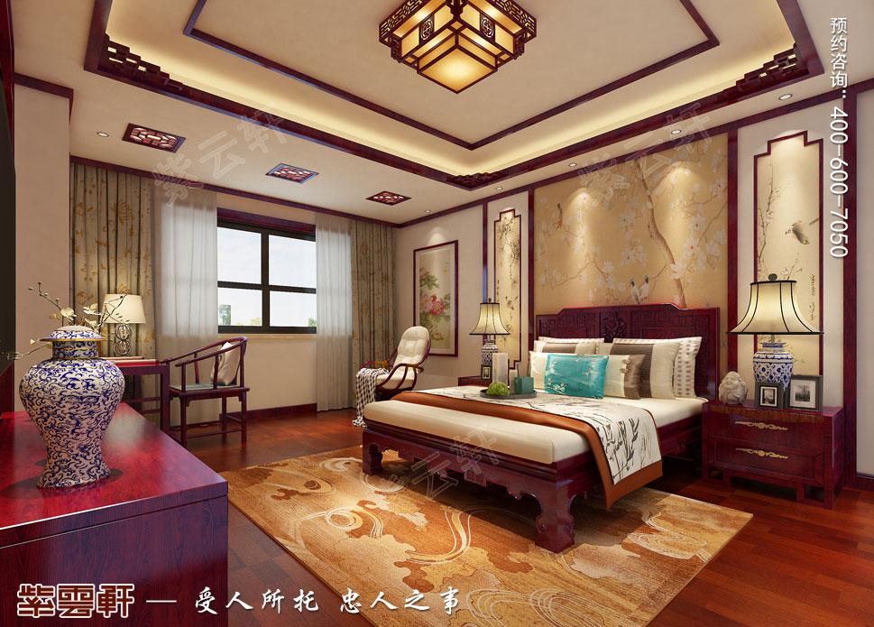 郑州豪宅女主卧古典中式装修效果图