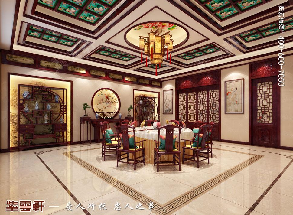 别墅餐厅中式装修.jpg