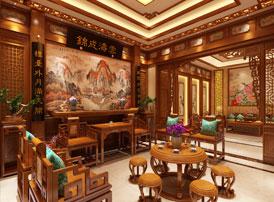 江苏常州豪宅古典中式装修案例 花朝月夕,如诗如画