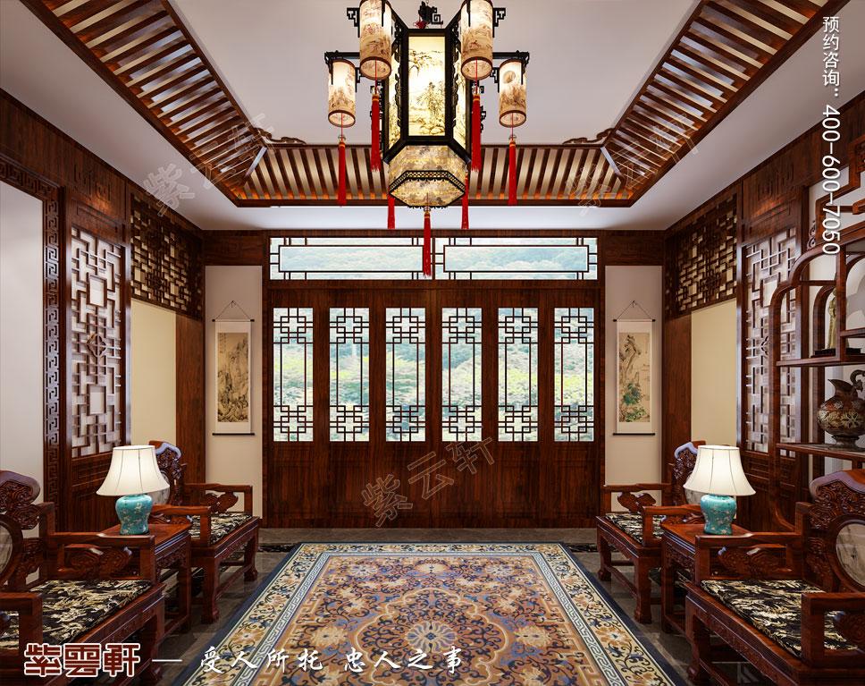 豪宅门厅中式装修