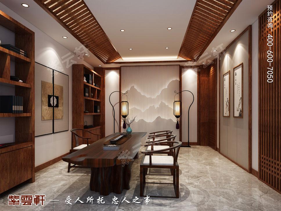 豪宅茶室中式装修