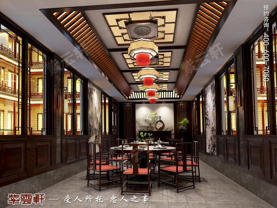豪宅宴会餐厅中式装修