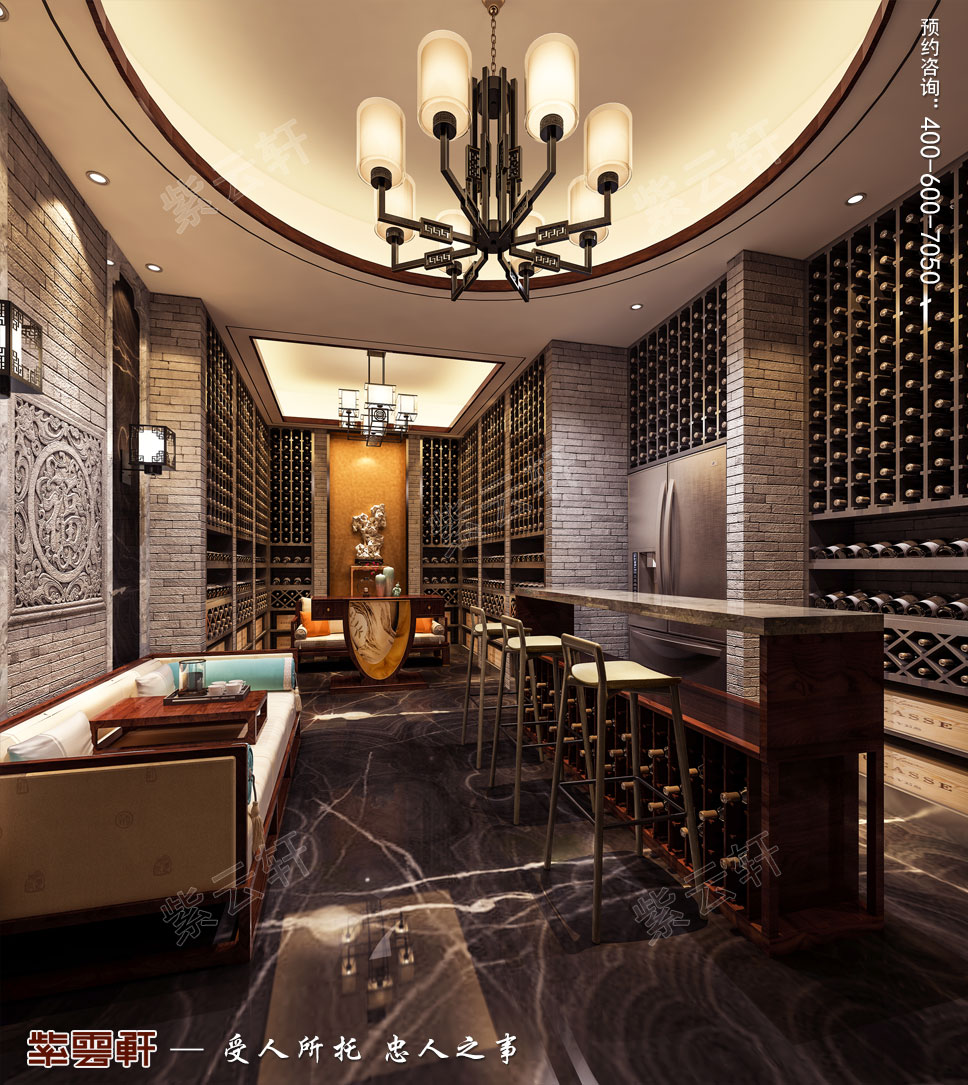 酒窖现代中式风格装修