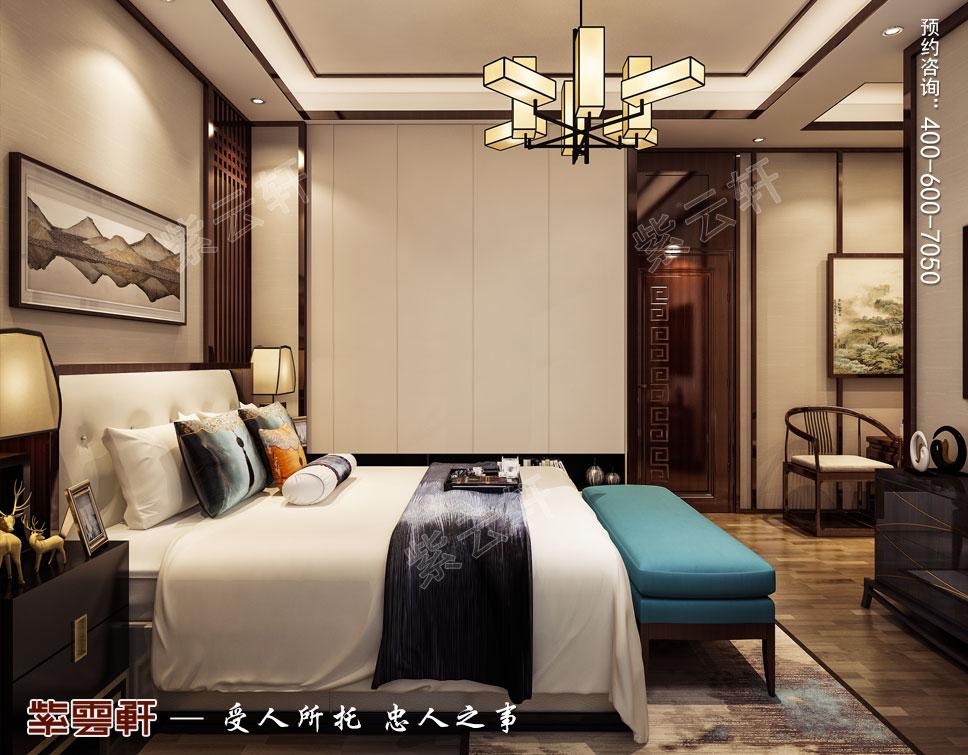 主卧室现代中式风格装修