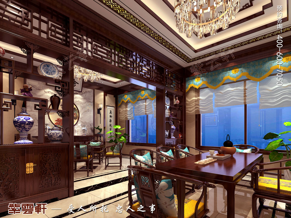 豪宅大茶室中式装修