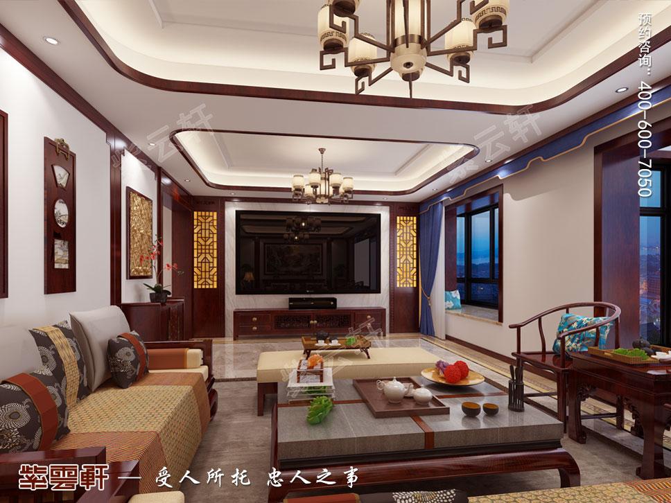 豪宅起居室中式装修