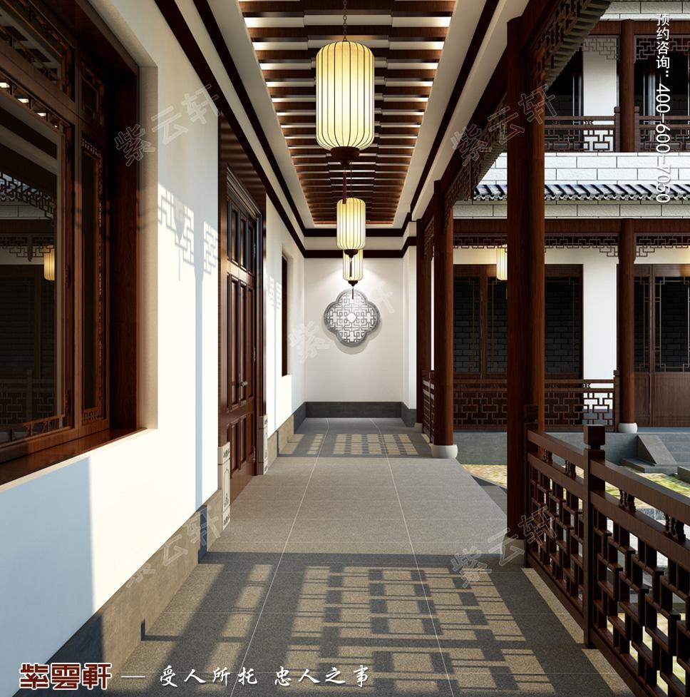 豪宅走廊中式装修