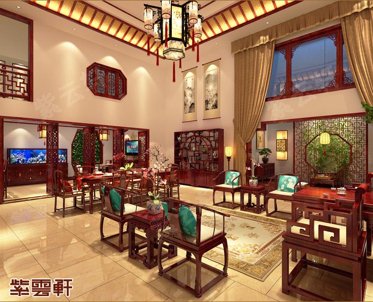 广西北海市别墅中式装修 绿叶阴浓 繁花似锦