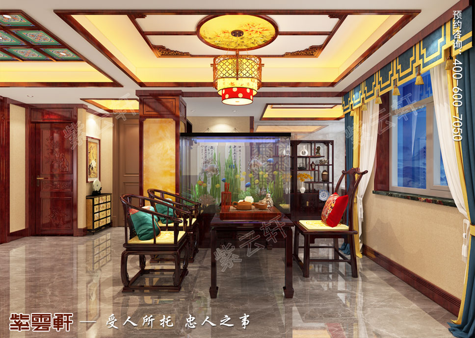 茶室中式设计装修