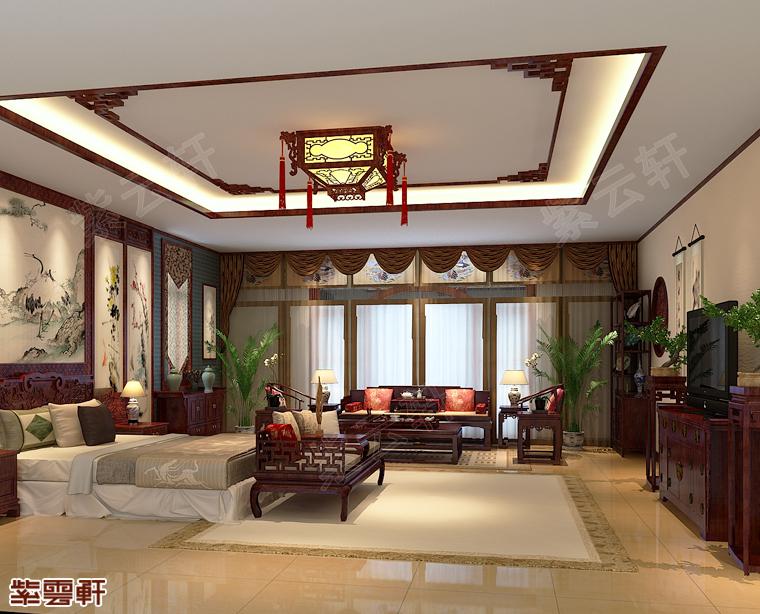 淡雅如菊的老人房中式设计