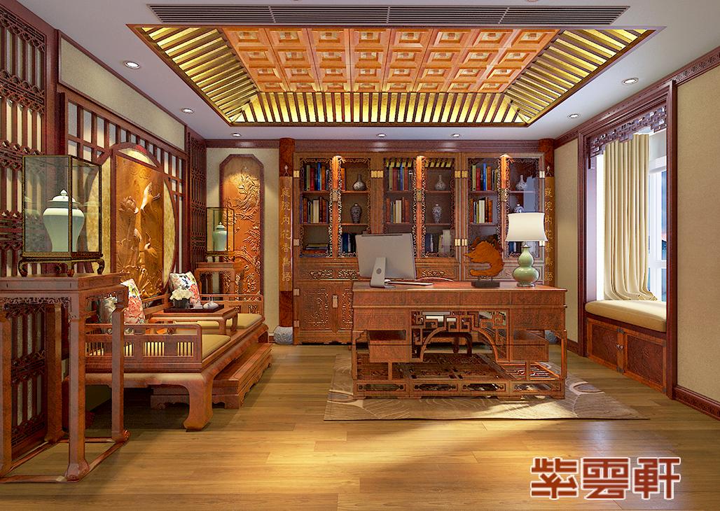 中式装修,书房中式设计,罗汉榻设计